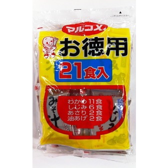 Marukome miso soup 21servings