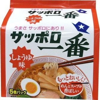 Sapporo Ichiban soysauce flavor 5portions